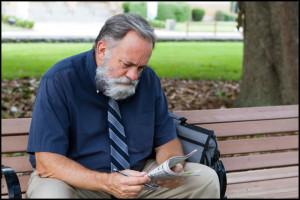 Older worker job hunting in spite of age discrimination